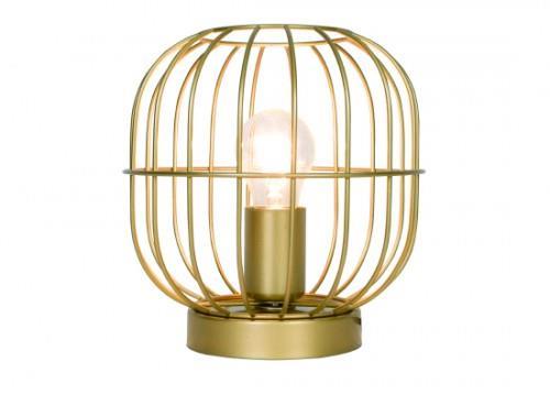 Φωτιστικό επιτραπέζιο μονόφωτο Zenith μεταλλικό χρυσό ματ 20x20cm Viokef 4211401