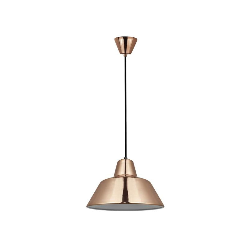 Φωτιστικό οροφής κρεμαστό μονόφωτο Glen μεταλλικό χάλκινο 28.5x100cm Viokef 4105603