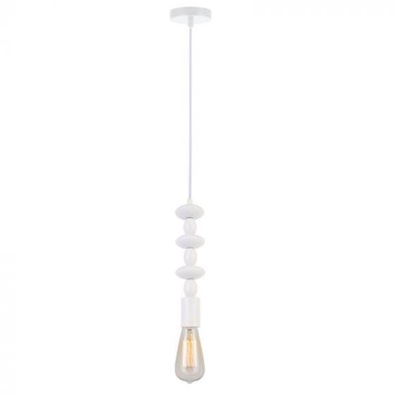 Φωτιστικό οροφής κρεμαστό μονόφωτο Marri μεταλλικό λευκό 10x100cm Viokef 4163001