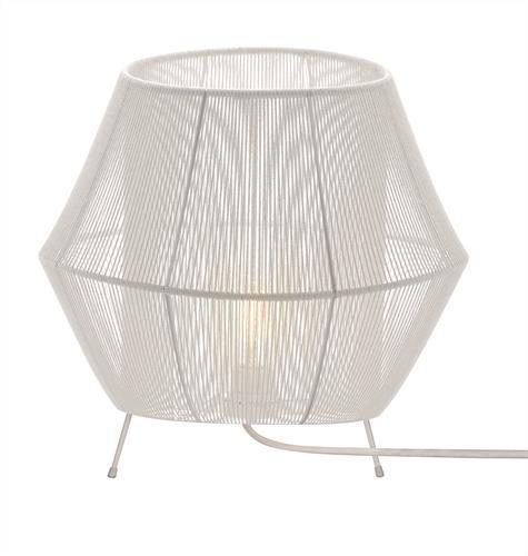 Φωτιστικό επιτραπέζιο μονόφωτο Zaira με κορδόνι λευκό 30×25.5cm Viokef 4214200