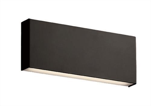 Απλίκα LED μονόφωτη Hugo μεταλλική μαύρη 30x12cm Viokef 3095401