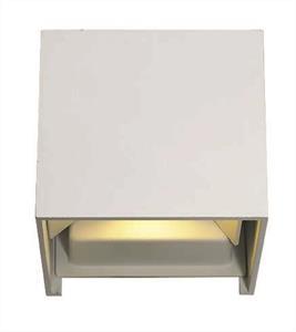 Απλίκα LED μονόφωτη Greg μεταλλική λευκή 10x10cm Viokef 4188800