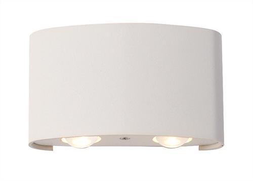 Απλίκα LED 4φωτη Twist αλουμινίου λευκή 12x8cm Viokef 4211000