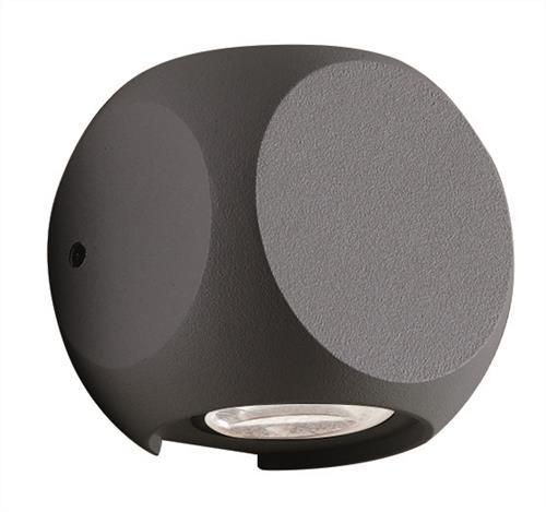 Απλίκα LED 2φωτη Ballito αλουμινίου ανθρακί 9.5×9.5cm Viokef 4210901