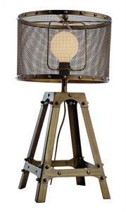 Φωτιστικό επιτραπέζιο μονόφωτο Afelio μεταλλικό μπρονζέ 32.5x61cm Viokef 4154100