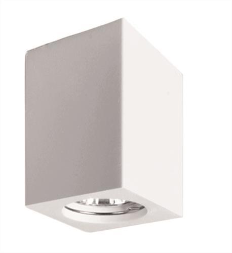 Πλαφονιέρα μονόφωτη Phenix τσιμεντένια λευκή 7x7x11.2cm Viokef 4160700