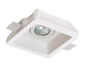 Χωνευτό οροφής μονόφωτο Jack γύψινο λευκό 15.5×15.5x9cm Viokef 4081100