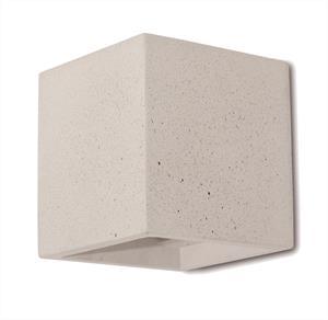 Απλίκα μονόφωτη Cube Concrete τσιμεντένια λευκή 11.5×11.5×11.5cm Viokef 4096902