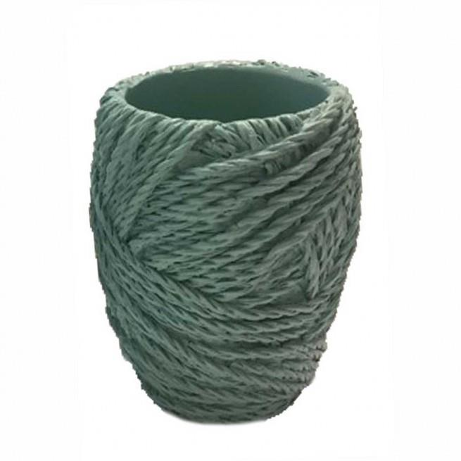 Θήκη για οδοντόβουρτσες κουβάρι polyester τυρκουάζ 7x7x10cm Marva 812009