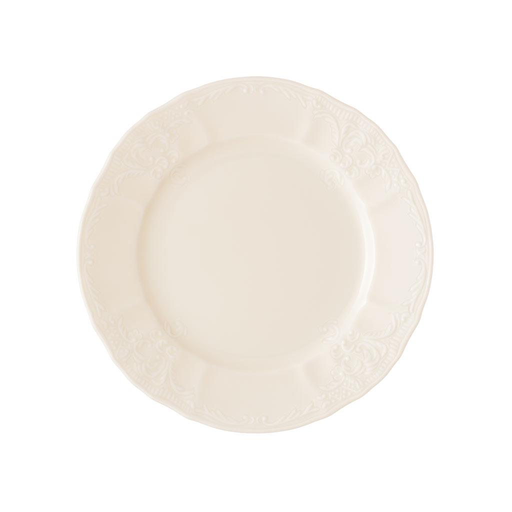 Πιάτο γλυκού Bernadotte πορσελάνινο λευκό Δ17cm