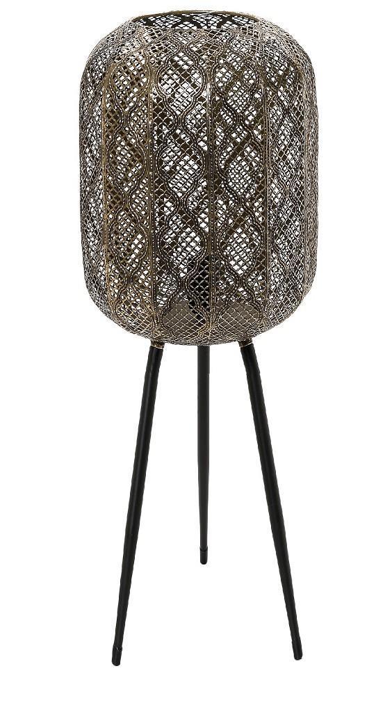 Φωτιστικό δαπέδου τρίποδο μεταλλικό χρυσό 28.5×28.5×109.5cm Espiel FUT311