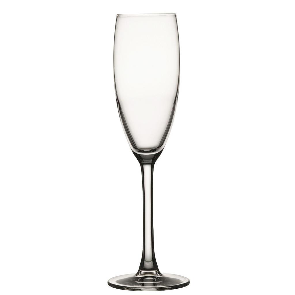S/6 Ποτήρι σαμπάνιας nude reserva flute 170ml διάφανο 5x5x22.5cm Espiel NU67076-6