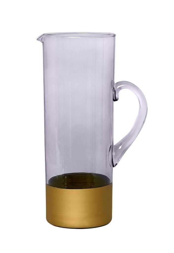 Κανάτα 1200ml μωβ/χρυσό 9.5×9.5×25.5cm Espiel RAB159