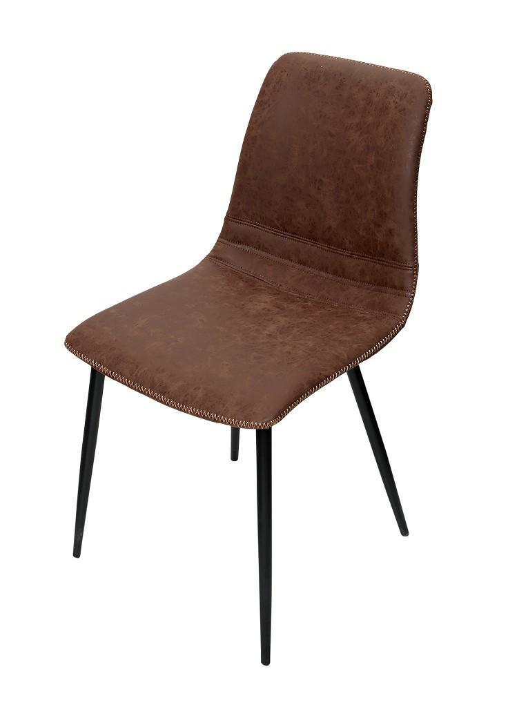 Καρέκλα pu/μεταλλική καφέ 46x58x71cm Espie lXEL102K2