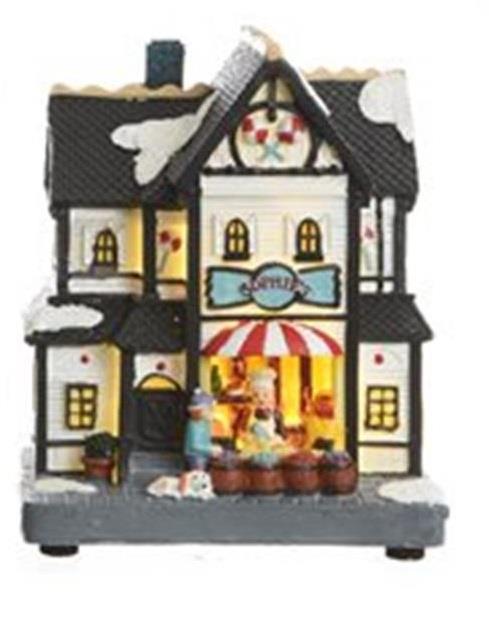 Χριστουγεννιάτικο διακοσμητικό επιτραπέζιο Led πολύχρωμο με υποδοχή μπαταρίας 10.5x7x13cm Kaemingk 481444-4