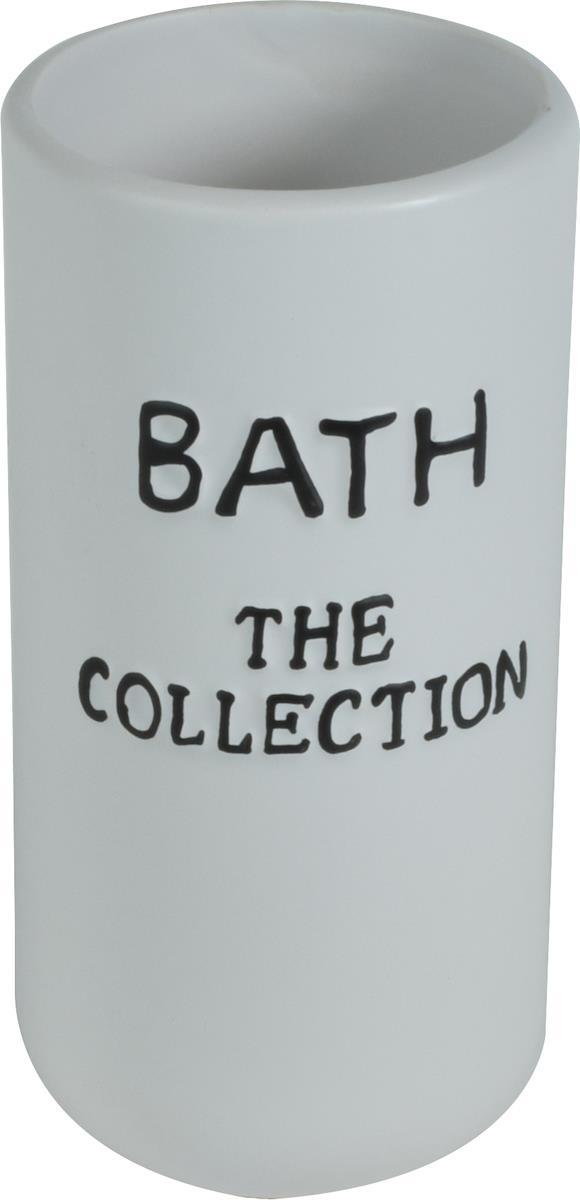 Ποτηράκι μπάνιου The Collection κεραμικό λευκό 6.7×6.7x13cm Estia 02-6372