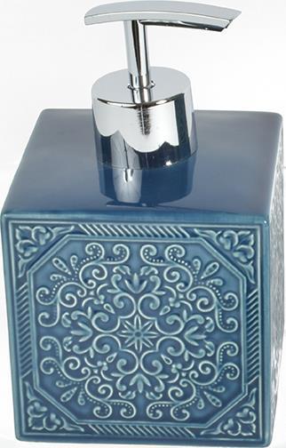 Αντλία σαπουνιού Square κεραμική μπλε 8.5×8.5x14cm Estia 02-6532