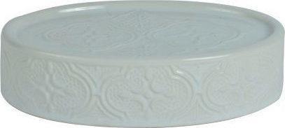 Σαπουνοθήκη Boho κεραμική λευκή 8.5×13.2×3.2cm Estia 02-6709