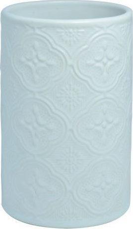 Ποτηράκι μπάνιου Boho κεραμικό λευκό 6.9×6.9x11cm Estia 02-6693
