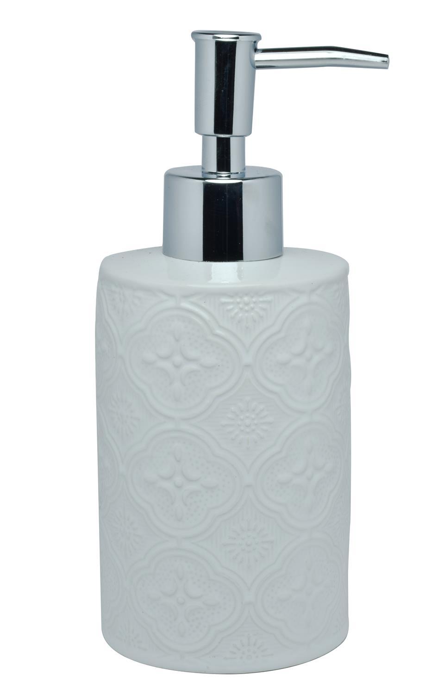 Αντλία σαπουνιού Boho κεραμική λευκή 8.1×7.1×17.2cm Estia 02-6686