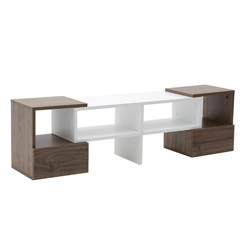 Έπιπλο tv selma ξύλινο λευκό/natural 141x30x39cm Inart 6-50-694-0005