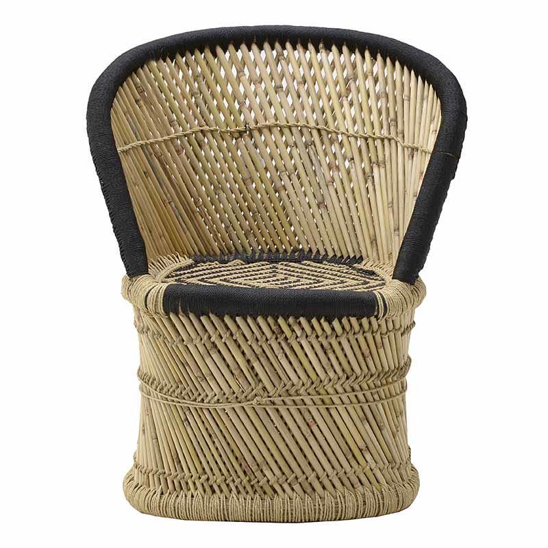 Καρέκλα μπαμπού natural/μαύρο 60x46x80cm Inart 3-50-492-0003