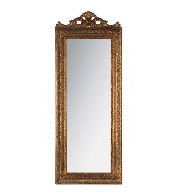 Καθρέπτης τοίχου polyresin χρυσό αντικέ 35x2x90cm Inart 3-95-261-0031