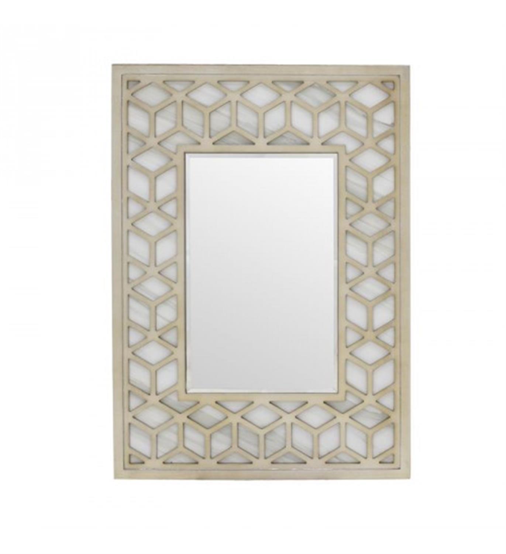 Καθρέπτης τοίχου μεταλλικός μπεζ 50x5x70cm Inart 3-95-262-0004
