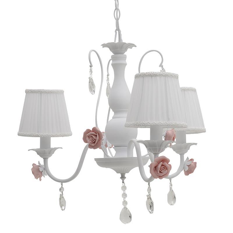 Φωτιστικό οροφής 3φωτο μεταλλικό λευκό/ροζ Inart 3-10-048-0004
