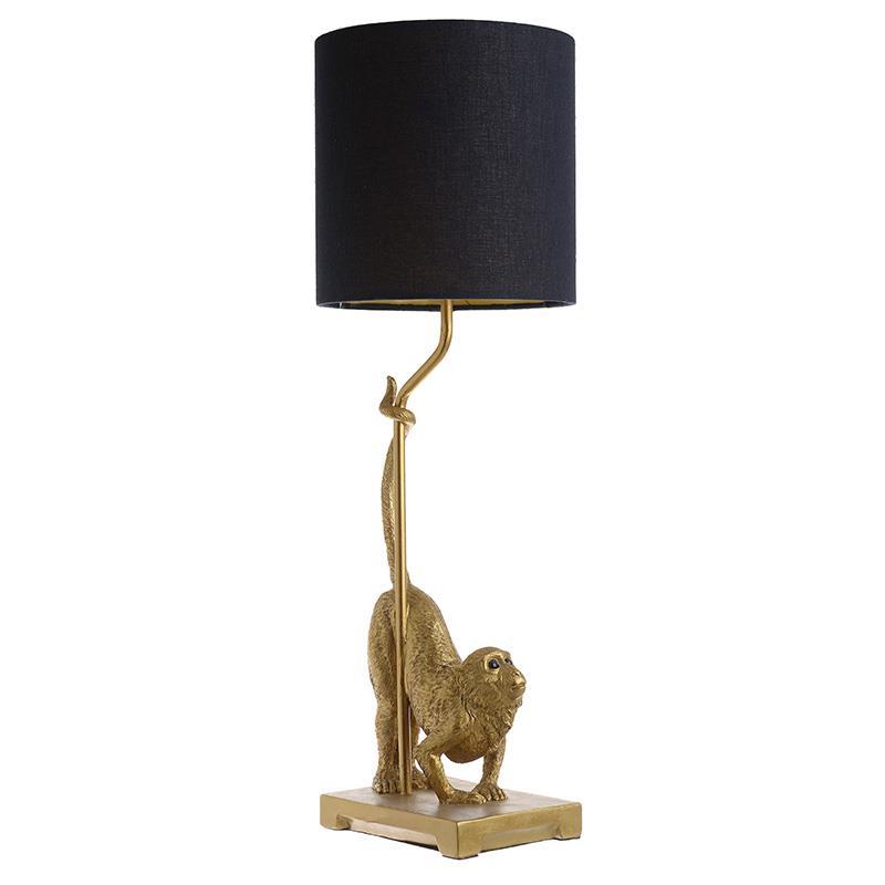 Φωτιστικό επιτραπέζιο Πίθηκος polyresin χρυσό/μαύρο 20x62cm Inart 3-15-784-0003