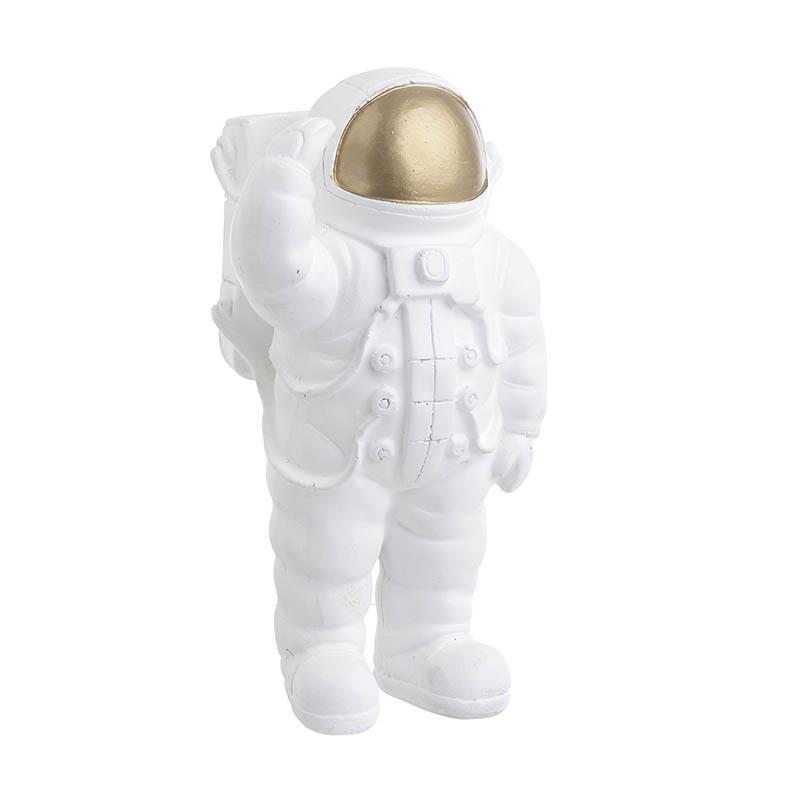 Αστροναύτης διακοσμητικός polyresin λευκός/χρυσός 10x9x19cm Inart 3-70-645-0020
