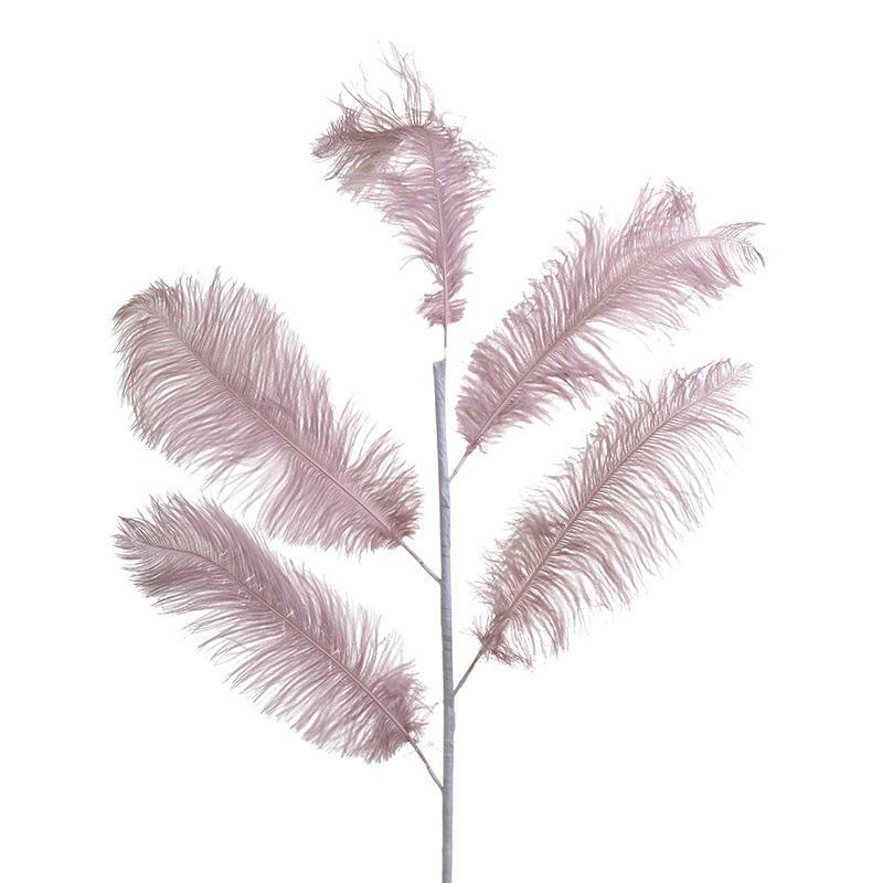 Φτερό διακοσμητικό ροζ 55x120cm Inart 3-70-355-0034