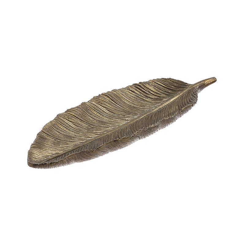 Πιατέλα διακοσμητική Φύλλο Inart 3-70-507-0300