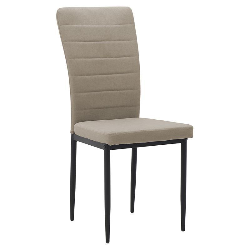 Καρέκλα υφασμάτινη μπεζ 58x42x95cm Inart 3-50-651-0001