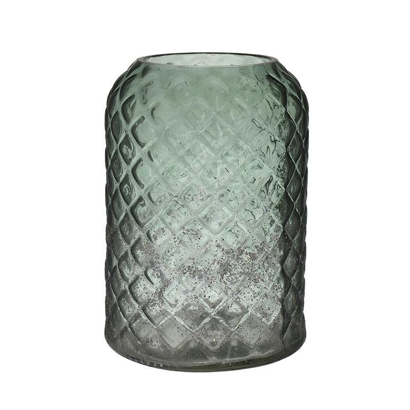 Βάζο διακοσμητικό γυάλινο πράσινο 15x21cm Inart 3-70-455-0006