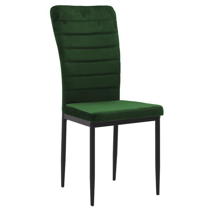 Καρέκλα βελούδινη κυπαρισσί 58x42x95cm Inart 3-50-651-0004