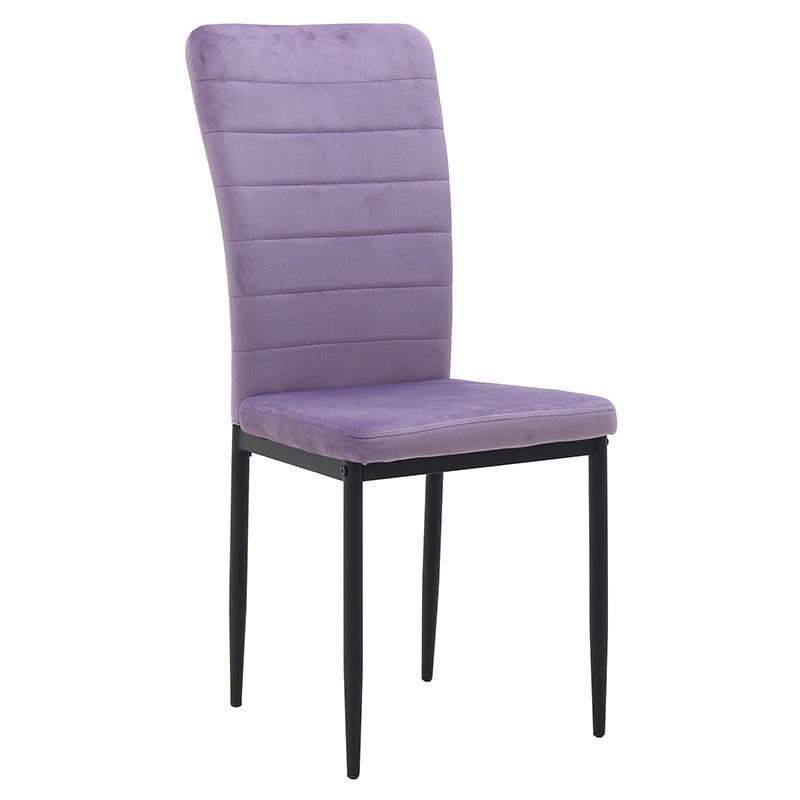 Καρέκλα βελούδινη λιλά 58x42x95cm Inart 3-50-651-0005