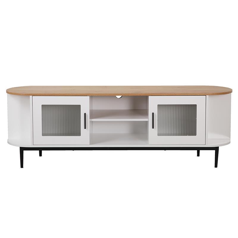 Έπιπλο tv ξύλινο λευκό/natural 160x38x53cm Inart 3-50-227-0016