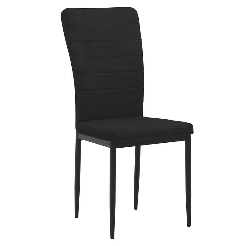 Καρέκλα βελούδινη μαύρη 58x42x95cm Inart 3-50-651-0008