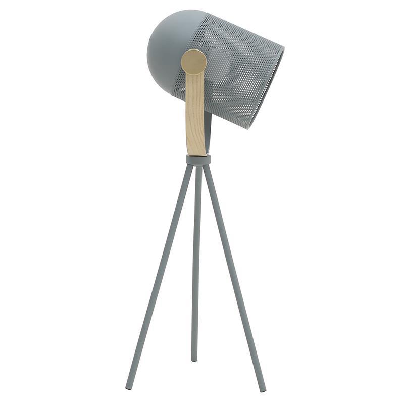 Φωτιστικό επιτραπέζιο μεταλλικό μαύρο 20x20x53cm Inart 3-15-460-0021