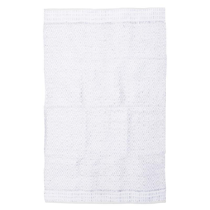 Χαλί υφασμάτινο λευκό/γκρι 120x180cm Inart 3-35-753-0004