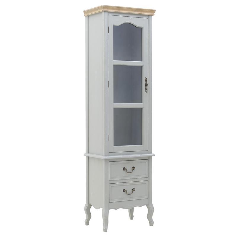 Βιτρίνα ξύλινη 50x35x180cm Inart 3-50-487-0054