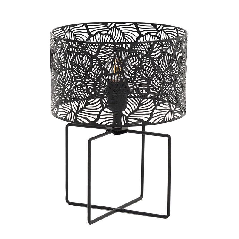 Φωτιστικό επιτραπέζιο μεταλλικό μαύρο 25x35cm Inart 3-15-460-0029