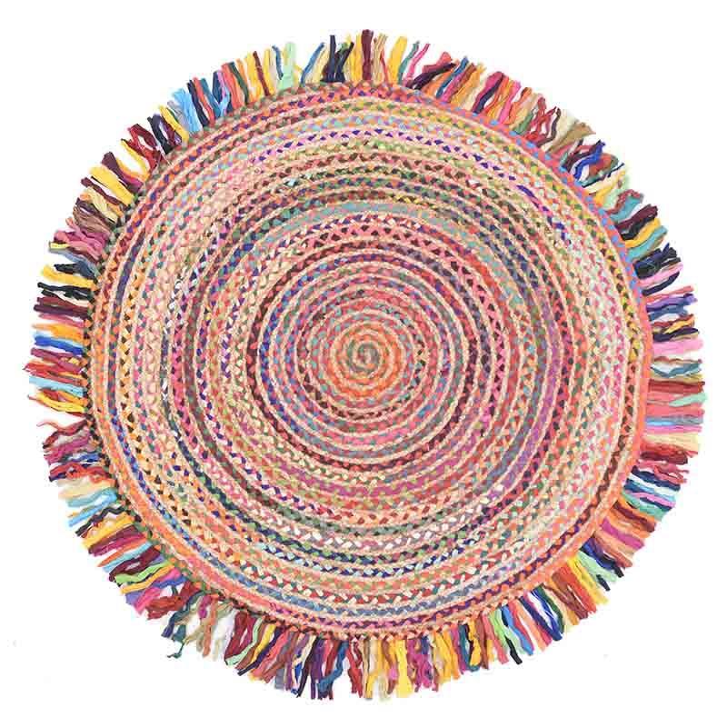 Κιλίμι Chindi/υφασμάτινο multicolor 120cm Inart 3-35-806-0008