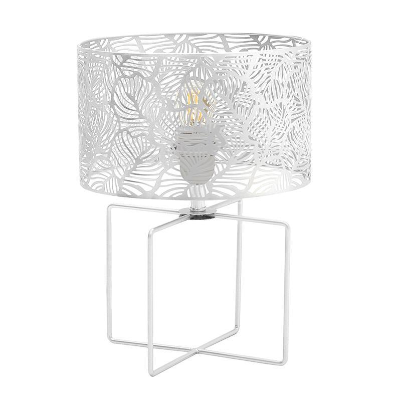 Φωτιστικό επιτραπέζιο μεταλλικό λευκό 25x35cm Inart 3-15-460-0031