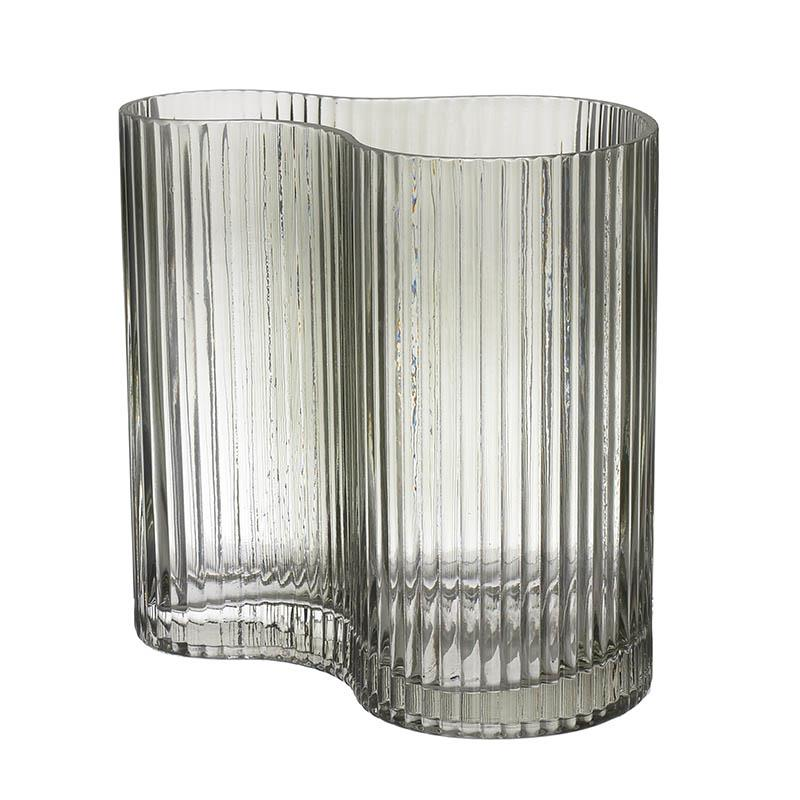 Βάζο γυάλινο πράσινο 18x11x18cm Inart 3-70-442-0019