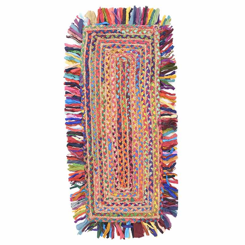 Κιλίμι Chindi/υφασμάτινο multicolor 60x120cm Inart 3-35-806-0010
