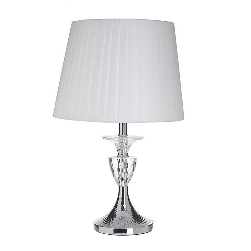 Φωτιστικό επιτραπέζιο μεταλλικό/plexiglass ασημί/λευκό 27x45cm Inart 3-15-958-0042
