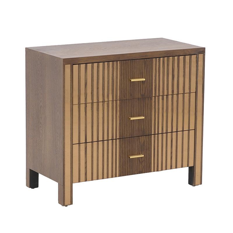 Συρταριέρα ξύλινη/καθρέπτη natural 80x40x72cm Inart 3-50-280-0011
