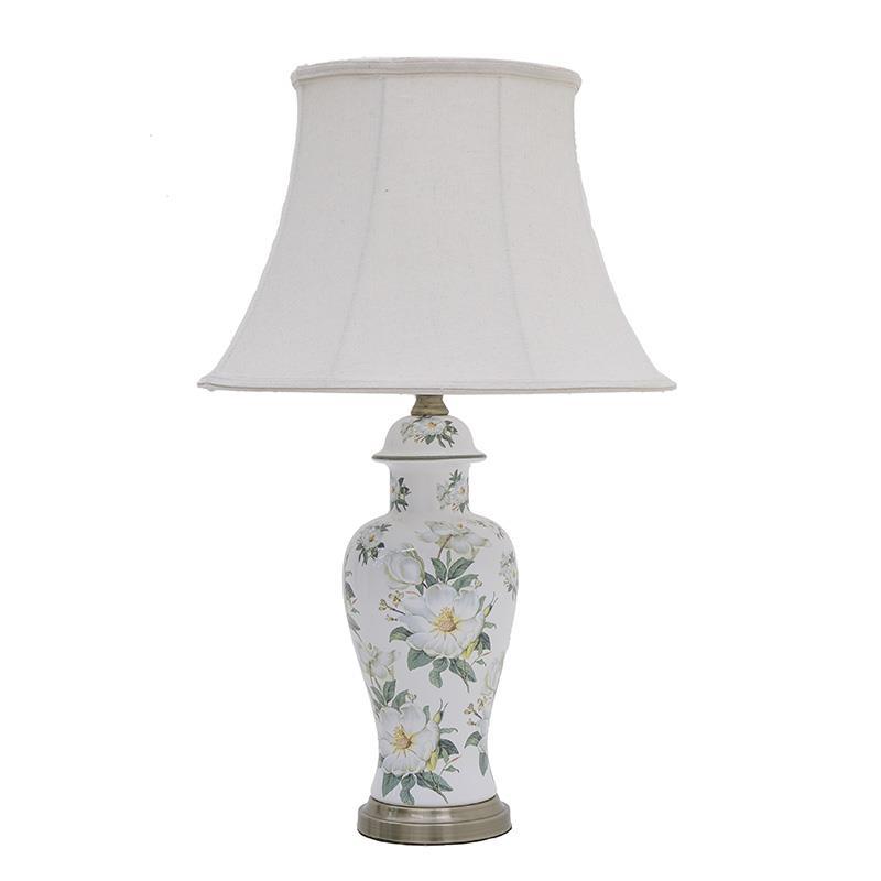 Φωτιστικό επιτραπέζιο λουλούδια κεραμικό πολύχρωμο 25x70cm Inart 3-15-959-0045